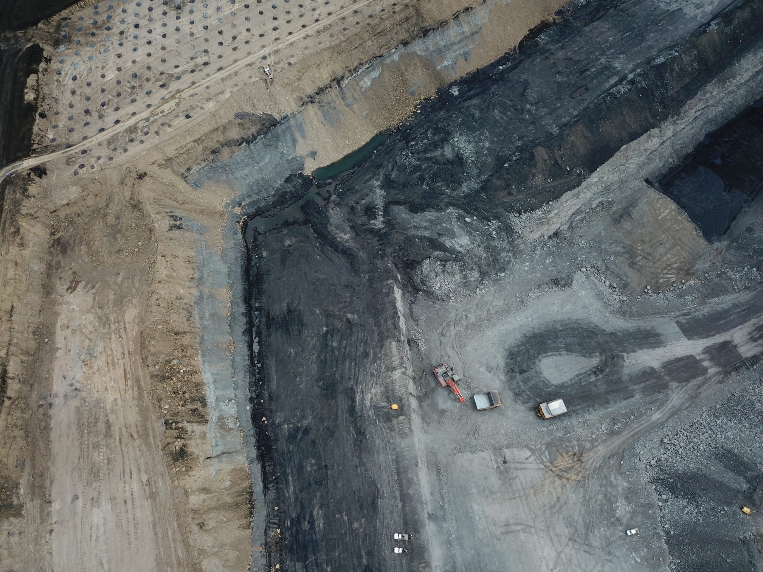 Mine site aerial view